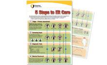 "5 Steps to ER Care"" poster"