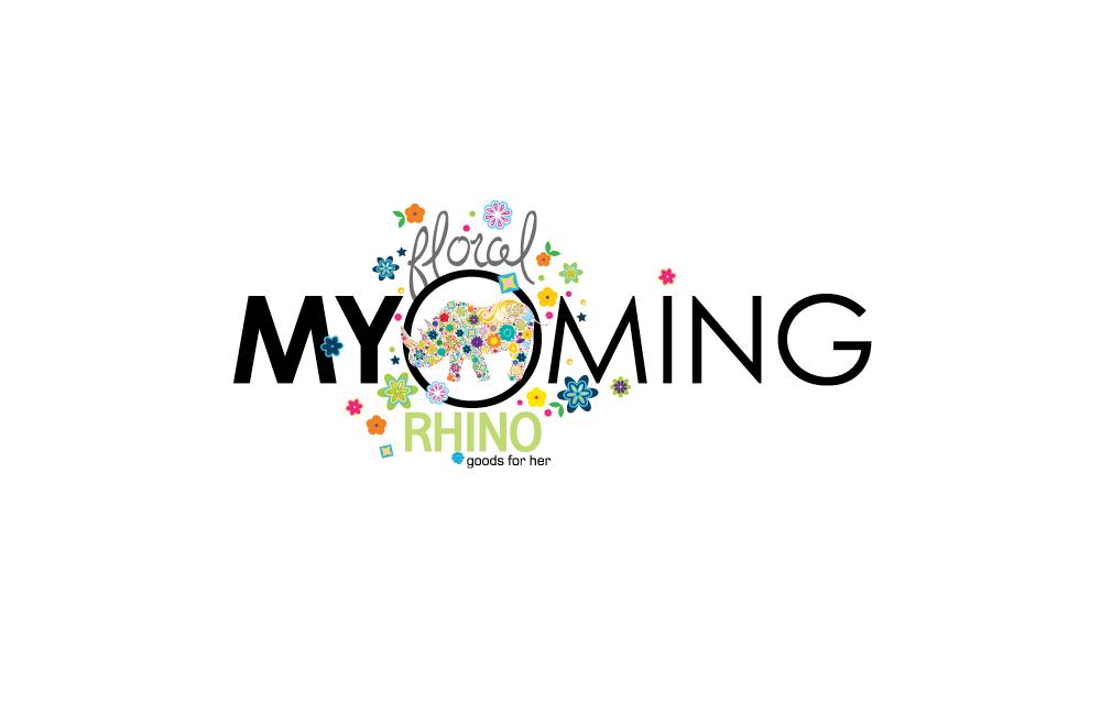 Myoming - Floral Rhino